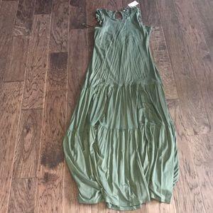 Army green maxi dress